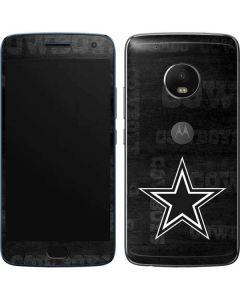 Dallas Cowboys Black & White Moto G5 Plus Skin