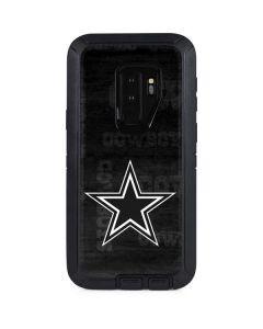 Dallas Cowboys Black & White Otterbox Defender Galaxy Skin