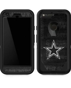 Dallas Cowboys Black & White Otterbox Defender Pixel Skin
