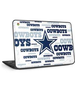 Dallas Cowboys Blue Blast HP Chromebook Skin