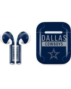 Dallas Cowboys Blue Performance Series Apple AirPods Skin