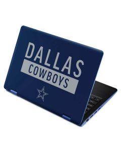 Dallas Cowboys Blue Performance Series Aspire R11 11.6in Skin