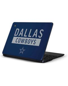 Dallas Cowboys Blue Performance Series Samsung Chromebook Skin