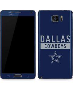 Dallas Cowboys Blue Performance Series Galaxy Note5 Skin