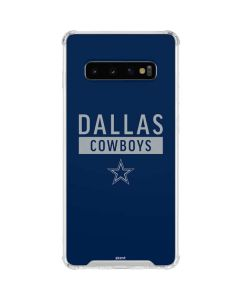 Dallas Cowboys Blue Performance Series Galaxy S10 Clear Case