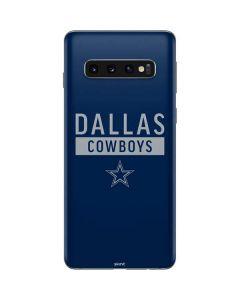Dallas Cowboys Blue Performance Series Galaxy S10 Skin