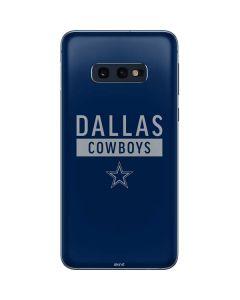 Dallas Cowboys Blue Performance Series Galaxy S10e Skin