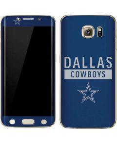 Dallas Cowboys Blue Performance Series Galaxy S6 edge+ Skin