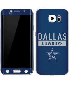 Dallas Cowboys Blue Performance Series Galaxy S6 Edge Skin