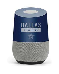 Dallas Cowboys Blue Performance Series Google Home Skin