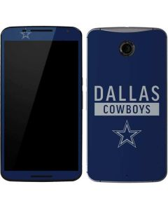 Dallas Cowboys Blue Performance Series Google Nexus 6 Skin