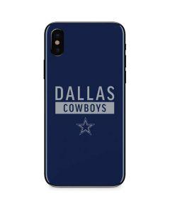 Dallas Cowboys Blue Performance Series iPhone X Skin