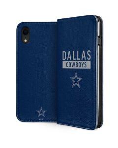 Dallas Cowboys Blue Performance Series iPhone XR Folio Case