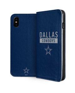 Dallas Cowboys Blue Performance Series iPhone XS Folio Case