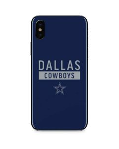 Dallas Cowboys Blue Performance Series iPhone XS Skin