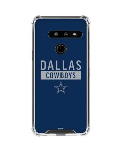 Dallas Cowboys Blue Performance Series LG G8 ThinQ Clear Case
