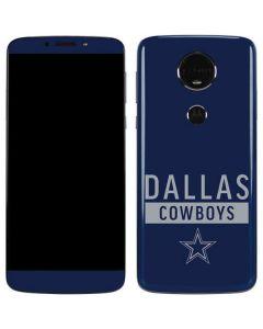 Dallas Cowboys Blue Performance Series Moto E5 Plus Skin