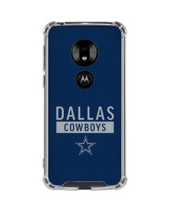Dallas Cowboys Blue Performance Series Moto G7 Play Clear Case