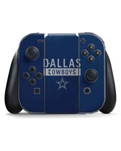 Dallas Cowboys Blue Performance Series Nintendo Switch Joy Con Controller Skin