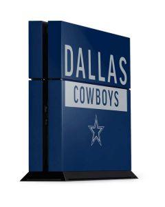 Dallas Cowboys Blue Performance Series PS4 Console Skin