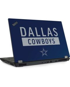 Dallas Cowboys Blue Performance Series Lenovo ThinkPad Skin