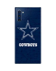 Dallas Cowboys Distressed Galaxy Note 10 Skin