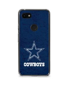 Dallas Cowboys Distressed Google Pixel 3a XL Clear Case