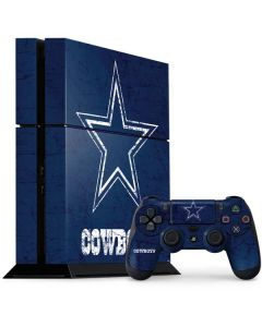 Dallas Cowboys Distressed PS4 Console and Controller Bundle Skin