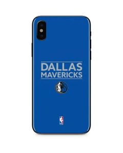 Dallas Mavericks Standard - Light Blue iPhone XS Max Skin