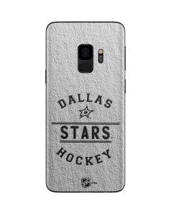 Dallas Stars Black Text Galaxy S9 Skin