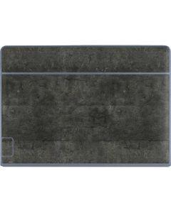 Dark Iron Grey Concrete Galaxy Book Keyboard Folio 12in Skin