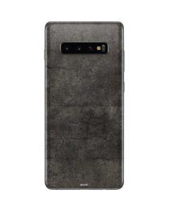 Dark Iron Grey Concrete Galaxy S10 Plus Skin