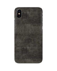 Dark Iron Grey Concrete iPhone X Lite Case