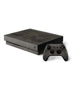 Dark Iron Grey Concrete Xbox One X Bundle Skin