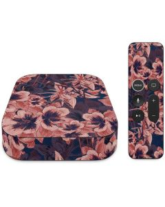 Dark Tapestry Floral Apple TV Skin