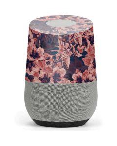 Dark Tapestry Floral Google Home Skin