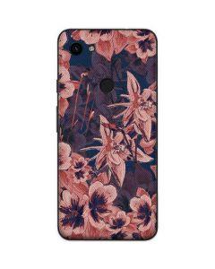 Dark Tapestry Floral Google Pixel 3a Skin
