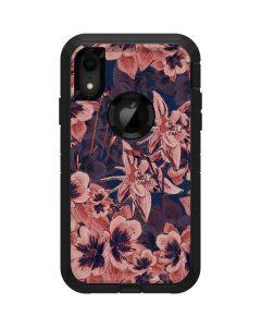Dark Tapestry Floral Otterbox Defender iPhone Skin