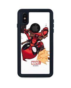 Deadpool Baby Fire iPhone XS Waterproof Case