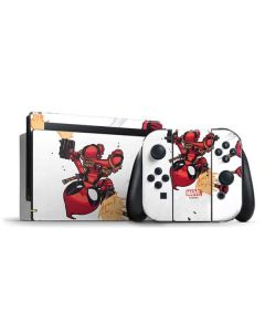 Deadpool Baby Fire Nintendo Switch Bundle Skin