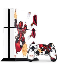Deadpool Baby Fire PS4 Console and Controller Bundle Skin
