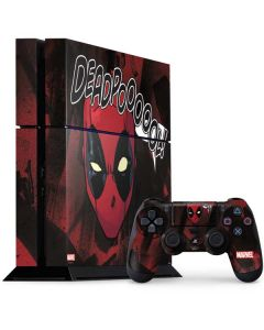 Deadpool Howl PS4 Console and Controller Bundle Skin
