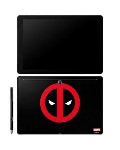 Deadpool Logo Black Galaxy Book 10.6in Skin