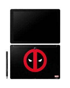 Deadpool Logo Black Galaxy Book 12in Skin