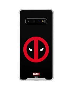 Deadpool Logo Black Galaxy S10 Clear Case