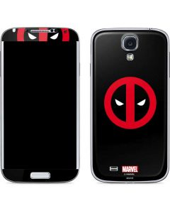 Deadpool Logo Black Galaxy S4 Skin
