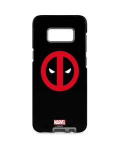 Deadpool Logo Black Galaxy S8 Pro Case