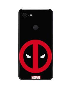 Deadpool Logo Black Google Pixel 3 XL Skin