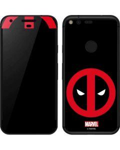 Deadpool Logo Black Google Pixel Skin