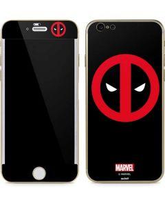 Deadpool Logo Black iPhone 6/6s Skin